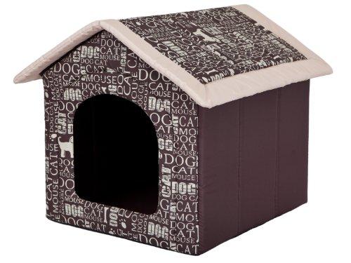 Hobbydog Hundehöhle Wörter Katzenhöhle Hundehütte Hundebett Katzenbett S-XL (L 52x46cm)