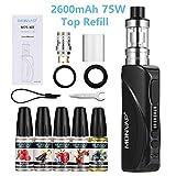Cigarette Electronique Kit Complet 75W, MONVAP M75 2600mAh avec 5x10ml E Liquide, Top...