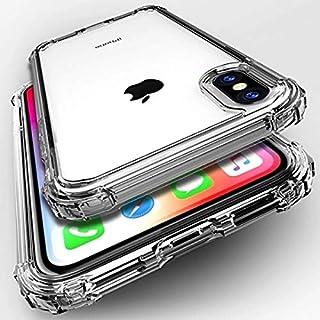透明 iPhone 7 iPhone 8 iPhoneSE(第2世代) ケース クリア カバー 耐衝撃 ガラスフィルム付き おしゃれ 韓国 海外 ソフト スマホケース 携帯ケース 薄型 軽量 スマホカバー 携帯カバー (iPhone7/8)