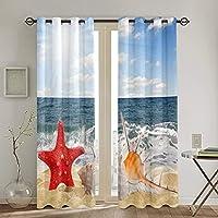 遮光遮熱カーテン,ホラ貝 寝室 カーテンセット カーテン おしゃれ 断熱 防音 カーテン のある生地 リビングルーム,2枚組 130 x 210CM
