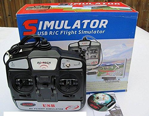 DYNAM 6CH 6-Channel FMS USB RC Flight Simulator with DYU-1002 Transmitter Mode 1 Right Throttle
