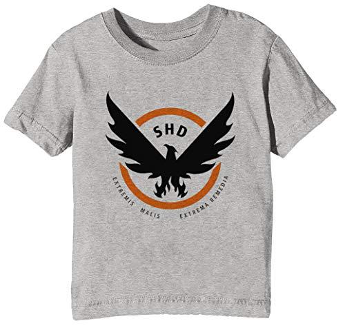 Erido The Division Enfants Unisexe Garçon Filles T-Shirt Cou D'équipage Gris Coton Manches Courtes Taille XL Kids Boys Girls Grey T-Shirt X-Large Size XL
