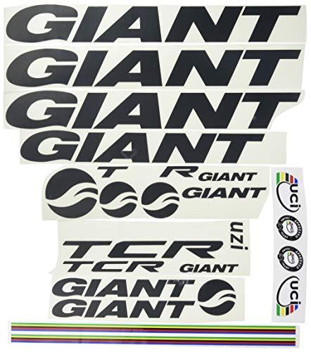 Ecoshirt QW-3RDS-82ZH Pegatinas Frame Cuadro Giant TCR Am21 Stickers Aufkleber Decals Adesivi Bike BTT MTB Cycle, Negro