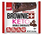 Bake City Brownie+ Keto   1.2oz Brownie (12 pack), Gluten Free, 0g Sugar, Only 3g Net Carbs, Good Fats, 4g Protein, Kosher, No Artificial Ingredients