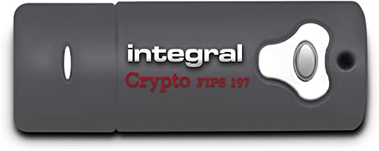 Integral 8GB Crypto Drive FIPS 197 Encrypted USB3.0 Flash Drive (AES 256-bit Hardware Encryption)