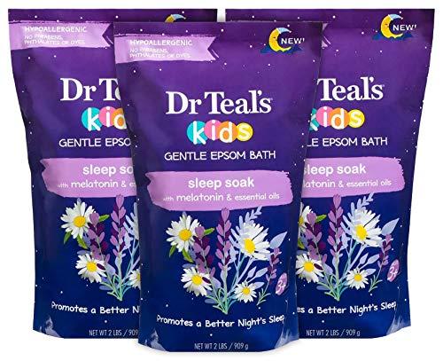 Dr Teal's Kids Epsom Salt Sleep Soak 3-Pack (6lbs Total) with Melatonin