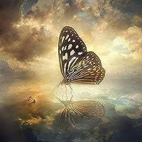 500ピース大人パズル木製ジグソー水の上のモザイク蝶アートDIYレジャー楽しみ贈り物適当な家族友人