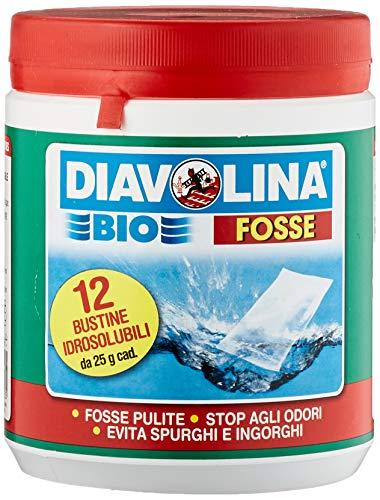 Diavolina 3349720 Bio Fosse Disincrostante, 12 Bustine, 25 Grammi