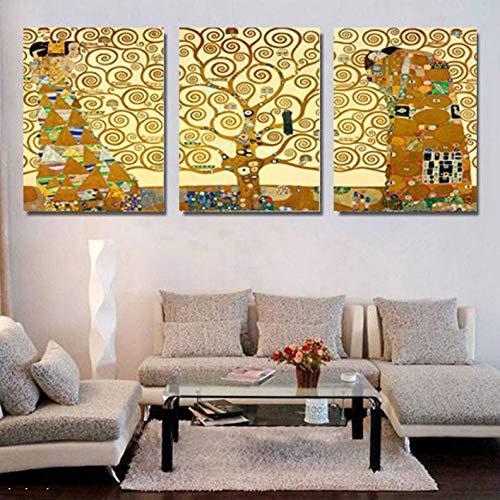 zkkpainting muurkunst olieverfschilderij frameloos Gustav Klimt levensboom restaurant wandontwerp voor huishoudtextiel afbeelding print schilderij groot canvas kunst