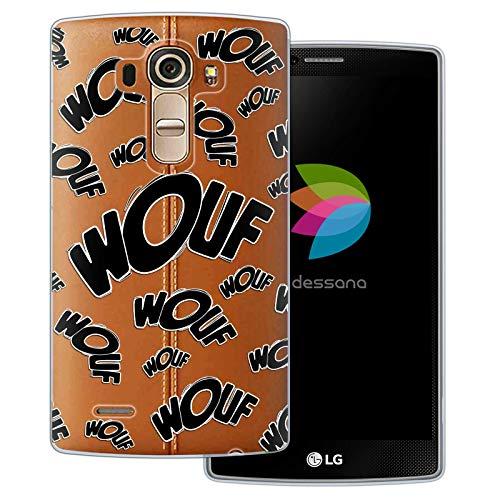 dessana Comic Zeichen transparente Schutzhülle Handy Case Cover Tasche für LG G4 Wouf