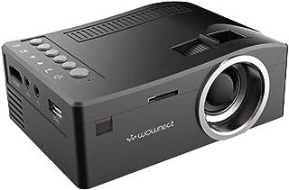 جهاز عرض صغير صغير محمول من Wownect UC18 للترفيه في السينما المنزلية، جهاز عرض تعليمي للأطفال، جهاز عرض ألعاب HD LED [يدعم...