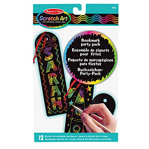Melissa & Doug | Bookmark Scratch Art Party Pack | Arts & Crafts | Scratch Art | 3+ | Gift for Boy or Girl