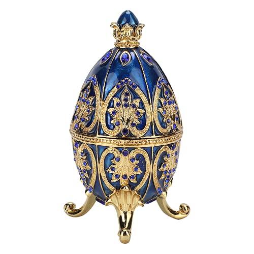 Joyero, artesanías de caja de baratija de metal, con un hermoso patrón, delicado y elegante, buen regalo para tus amigos y familiares.