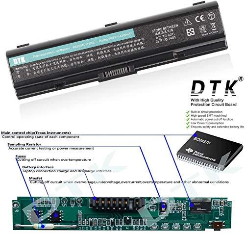 DTK PA3534U-1BRS PA3533U-1BRS PA3535U-1BAS Ultra Hochleistung Notebook Laptop Batterie Li-ion Akku für Toshiba EQUIUM Series Satellite A200 A300 A500 L200 L300 L500 [10.8V 4400MAH 6CELLS]