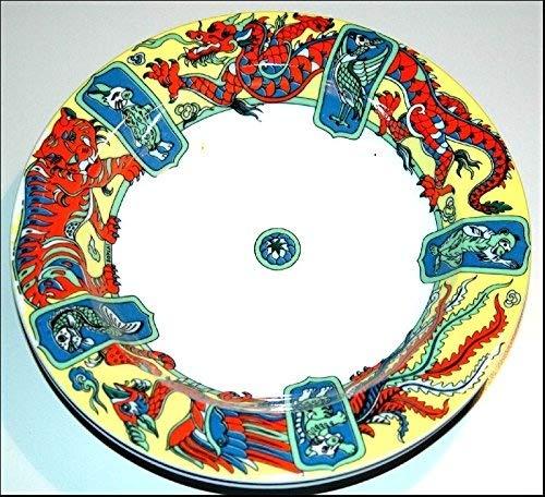 BOPLA! Porzellan TIEFER TELLER - oder Schale MING aus der Asia Serie - ASSIETTE CREUSE - PIATTO FONDO - DEEP PLATE - PLATO HONDO DURCHMESSER Ø 22 CM, 8-5/8 IN. GEEIGNET ALS SUPPENTELLER, PASTA-TELLER SALATTELLER, ANRICHTESCHALE, BROT- Bötchen- Müsli-. oder Obstschale- USW. EINZELGEWICHT: 436G. IN VERSCHIEDENEN DEKOREN UND FARBVARIATIONEN ZU ERHALTEN (22cm, Grundfarbe gelb)