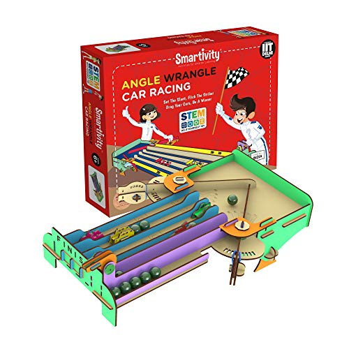 Smartivity Angle Wrangle Car Racing STEM Educational DIY Fun Toys, Educational & Construction based Activity Game for Kids 6 to 14, Gifts for Boys & Girls, Learn Science Engineering Project, Made in India