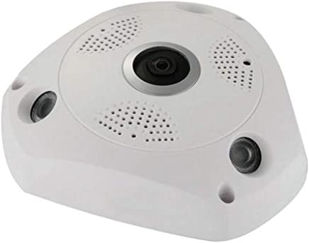 K99 Telecamera Senza Fili WiFi, Visione Notturna VR 1080P FHD Telecamera Panoramica WiFi Intelligente 360 Gradi HD Night Vision Telecamera Senza Fili Panoramica Obiettivo Fisheye,1.3millionpixels - Trova i prezzi più bassi