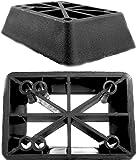 New Set of 2 Longboard 1 Riser Pads for Longboard Truck Risers Black -