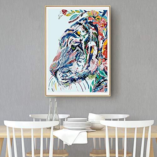 baodanla Geen lijst gezicht ng, kleur koe tijger canvas olie, druk woonkamer, gang restaurant behang