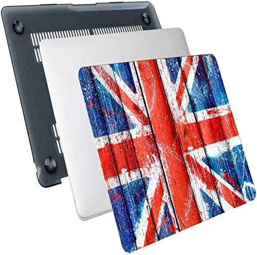 MacBook Pro Case 2018 Mottled Union Jack Flag On Wooden Plank Plastic Hard Shell Compatible product image