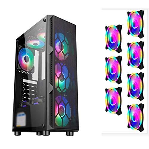 Caso de los juegos de PC ordenador para PC de escr Chasis de juego de la fuente de alimentación inferior independiente, enfriada por aire, enfriada por agua, chasis de juego de juegos transparente a p