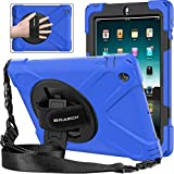 BRAECNstock Apple iPad 2 3 4 Case 9.7 Inch Heavy Duty Kickstand Shockproof Protective/ Hand Strap&Shoulder Strap Case for iPad 2nd/ 3rd/ 4th Generation Tablet Case (Blue)