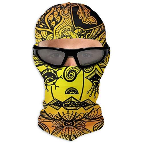 N/A Full Face Masker Pompoen Hoeden Zijn Graffiti Rood En Oranje Om te vieren Halloween Hood Zonnebrandmasker Dubbele Laag Koud Voor Mannen En Vrouwen