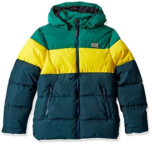 Lego Wear Jungen Lego Boy LWJORDAN 708-Winterjacke Jacke, Mehrfarbig (Dark Green 875), (Herstellergröße:128)