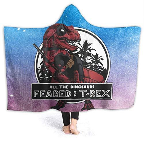 FETEAM Manta De La Siesta Felpa Sofás Franela Hooded Tutti-i-dinosauri-temevano-il-T-Rex W102cm X L127cm Buen sueño Hoodie