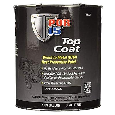 POR-15 45901 Top Coat Chassis Black Paint 128. Fluid_Ounces
