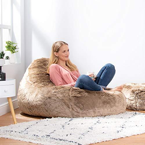 Icon Traum Liege Sitzsack - 110cm x 80cm, Riesiges Sitzsack-Tagesbett aus Kunstfell - 3