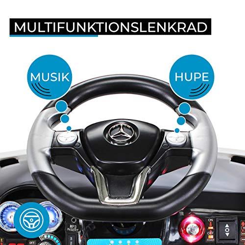 RC Auto kaufen Kinderauto Bild 4: Kinder Elektroauto Mercedes ML 350 Original Lizenz Auto 2X 25 Watt Motor Kinderauto Kinderfahrzeug Elektroauto (Schwarz)*