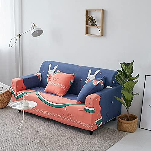 WXQY La Moderna Funda elástica para sofá es Adecuada para la Sala de Estar Funda elástica para sofá Funda de Esquina para sofá Todo Incluido Envuelta herméticamente A18 4 plazas