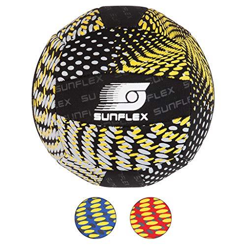 Sunflex Neopren Zubehör Beach und Funball Splash Größe 3 in schwarz   Volleyball weich und leicht für den Strand und das Wasser   extrem robust und für Jede Altersgruppe