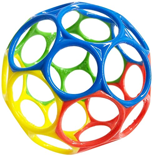 Oball Classic Ball - Red, Yellow, Green, Blue, Ages Newborn +