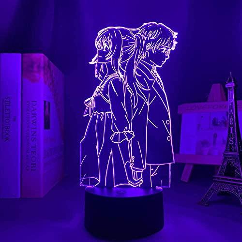 Lâmpada noturna 3D de ilusão de anime, luz LED 3D, Anime Your Lie in April para decoração de quarto, luz noturna, presente de aniversário, mangá, mesa, lâmpada 3D Your Lie em abril QLWLKJ HOICHAN