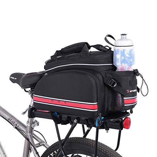 LieYuSport Borse per Biciclette Posteriori,10L Grande capacità Zaino Bici Mountain Bike,Impermeabile Borsa Bici Posteriore,Bike Trunk Bag con Copertura Anti Pioggia per Ciclismo/MTB/BMX