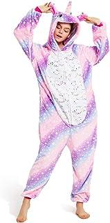 Pijama Unicornio Adulto, Unisexo para Mujer Hombre Cosplay Animal Disfraz Pyjamas Halloween Traje de Navidad