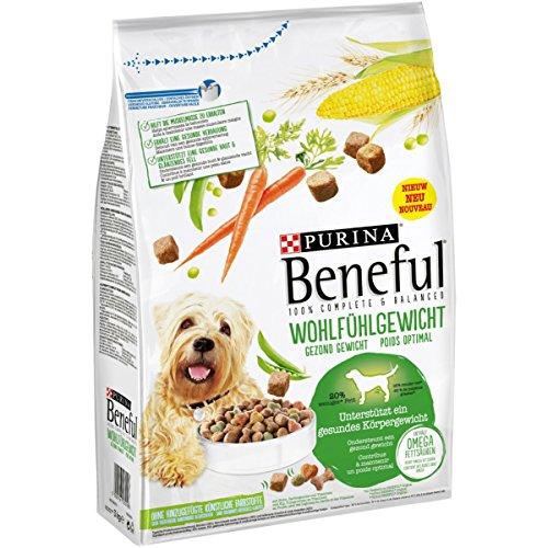 Purina Beneful Hundetrockenfutter Wohlfühlgewicht (mit Huhn, Gartengemüse und Vitaminen) 3kg Beutel