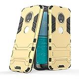 GoodcAcy Funda Moto G6 Plus con Soporte 2in1 Duro PC Suave TPU Silicona Caso Cover con[Pantalla de...