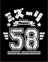 【FOX REPUBLIC】【ミズーリ アメリカ ロゴ】 黒光沢紙(フレーム無し)A4サイズ