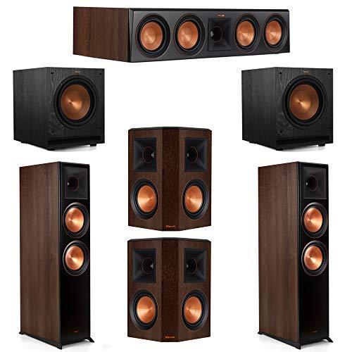 Great Price! Klipsch 5.2 Walnut System 2 RP-8000F Floorstanding Speakers, 1 Klipsch RP-404C Center S...