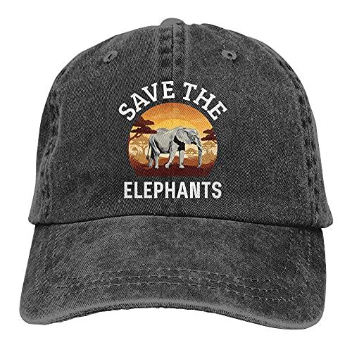 BOIPEEI Chaqueta de béisbol para Hombres y Mujeres Sombrero de Visera con Sombrero de Vaquero de preservación de la Vida Silvestre de Elefante