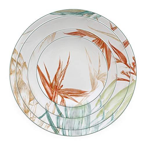 Sunbobo Table Decoration Plate 4 Piezas de Porcelana de Hueso del vajilla Moderna y Elegante Inicio Filete Placa Placa de cerámica Western Steak Plate (Color : Multi-Colored, Size : One Size)