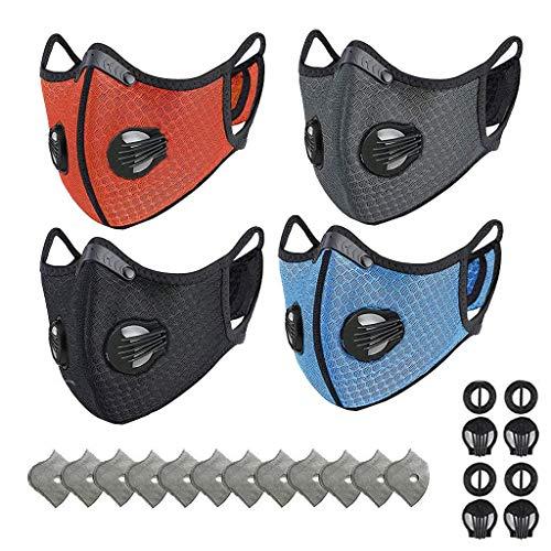 GoldPang Outdoor-Mundschutz mit Aktivkohlefilter,Atemventil,Waschbar,Wiederverwendbare,Gesichtsschutz für Motorrad, Holzbearbeitung, Radfahren, Laufen