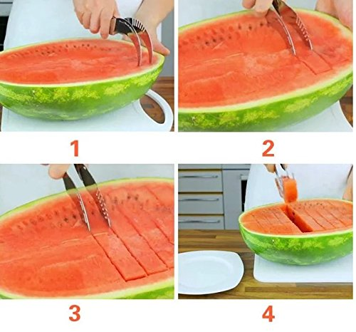 Watermelon Slicer - It's the Best Fruit Corer, Cutter and Tongs, all In One Awesome Kitchen Tool