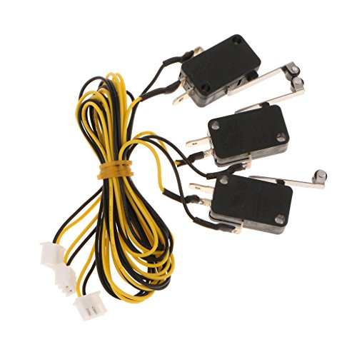 Milageto 3PCS KW11-3Z Mechanical Endstop Switch with 600mm Cable for Makerbot