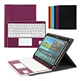 Cassa con Tastiera Smontabile Bluetooth 3.0 Senza fili Italiano e multi touchpad - Compatibile con 9.0 -10.6 pollici Tablet Qualsiasi Windows / Android OS(Min 15x24cm Max 18x26cm)Viola