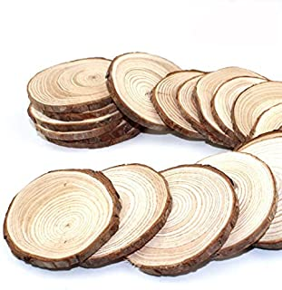 JPSOR 50PCSWS Wood Slices, 50 Pieces, Wooden