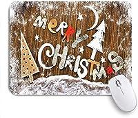 マウスパッド 雪だるまのギフトスノーフレークサンタクロースと鹿のクリスマス ゲーミング オフィス最適 高級感 おしゃれ 防水 耐久性が良い 滑り止めゴム底 ゲーミングなど適用 用ノートブックコンピュータマウスマット